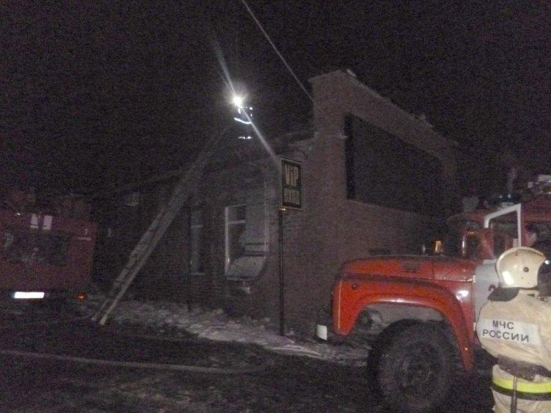 Вкировском клубе произошёл пожар