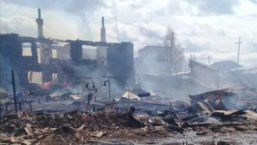 ВКировской области врезультате сильного возгорания 72 человека остались без жилья