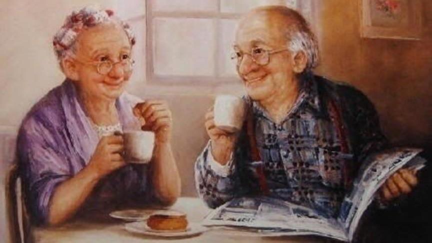 Картинка для открытки бабушка с дедушкой, утро картинки прикольные